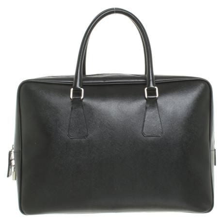 Günstigen Preis Kaufen Rabatt Aussicht Prada Handtasche aus Leder Schwarz Billig Besten mepEbwIn