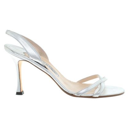 Manolo Blahnik sandales couleur argent