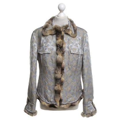 Blumarine Jacke mit Chinchillafell-Besatz