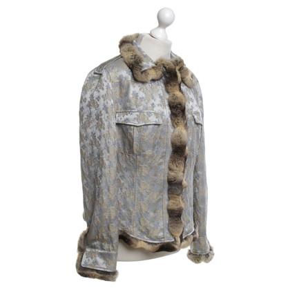 Blumarine Giacca con rifiniture in pelliccia di cincillà