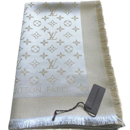 Louis Vuitton Scialle Monogram Beige e Oro Shine