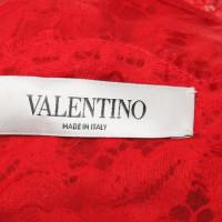 Valentino Organza-Bluse mit Spitze
