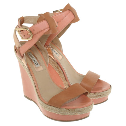 Pinko Wedges in Apricot