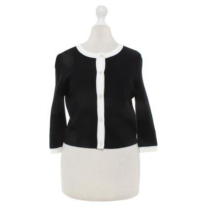 Issa Vest in zwart / wit