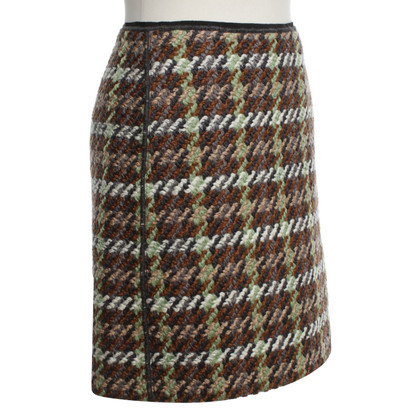 Luisa Cerano skirt with check pattern