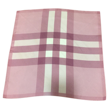 Burberry Silk scarf with plaid pattern