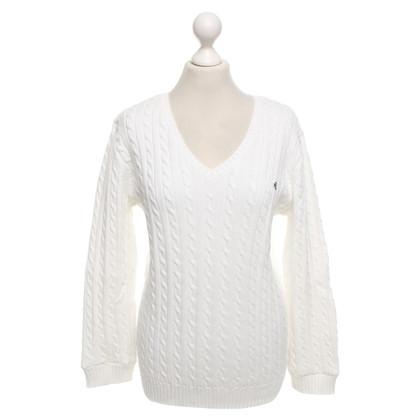 Polo Ralph Lauren maglione sportivo in bianco