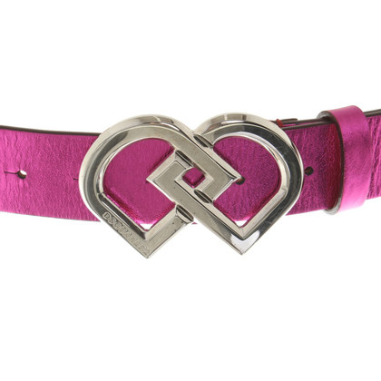 Dsquared2 Leather belt in pink