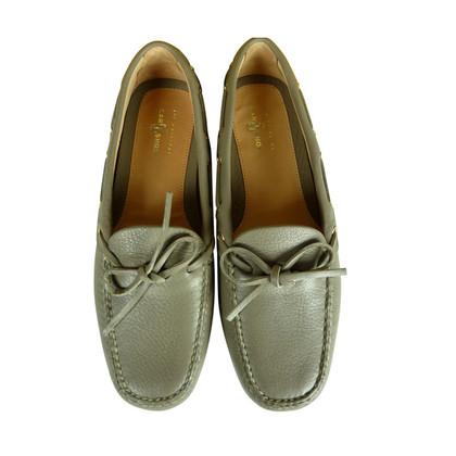 Car Shoe Nuovi mocassini da preziosa pelle di daino nel colore taupe 229