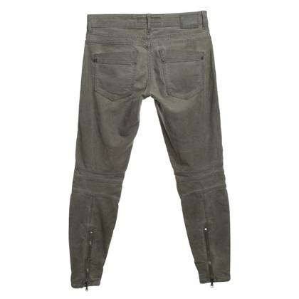Drykorn Biker-Jeans in Samtoptik
