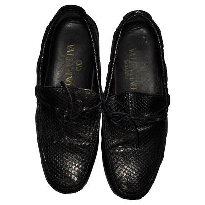Valentino Snake leather moccasins