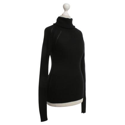 Sport Max Roll collar sweater in black