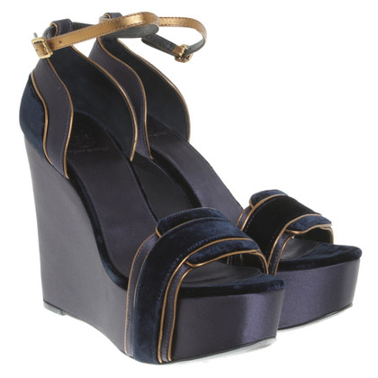 Tory Burch Wedges of velvet / satin