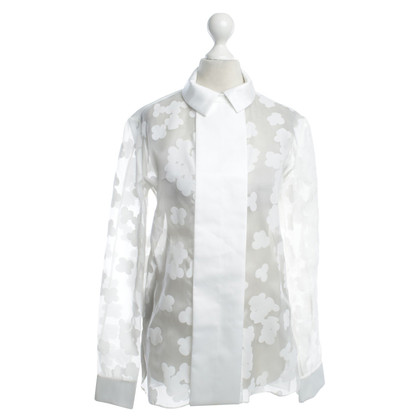 Carven blouse semi-transparent en blanc