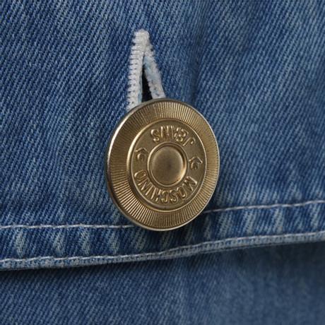 Moschino Moschino Blau Jeansweste in Jeansweste Blau 1x8zCq