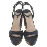 Miu Miu sandali in camoscio