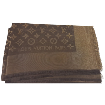 Louis Vuitton Louis Vuitton Stole Monogram Brown Lurex