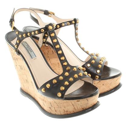 Prada Wedges with cork heel