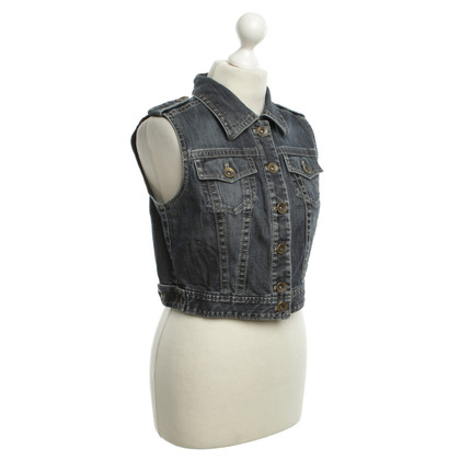 Marc Cain Jean vest in blue