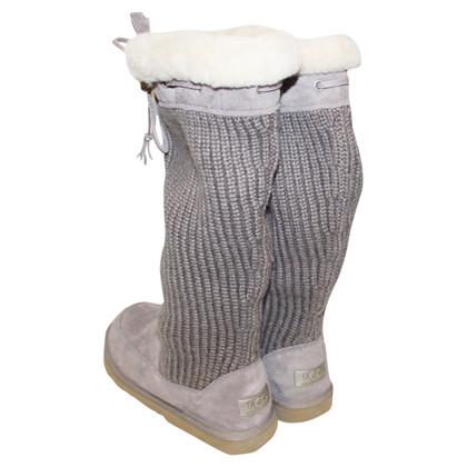 Ugg Stiefel aus Materialmix