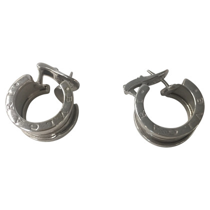 "Bulgari Earrings ""B.Zero1"" in white gold"