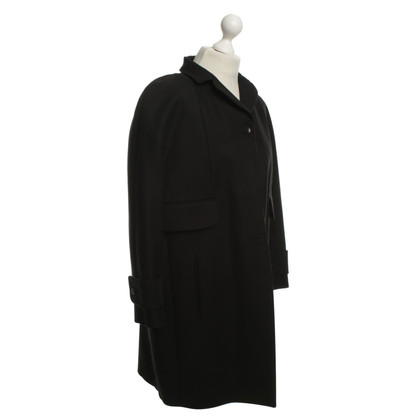 Carven Cotton coat in black