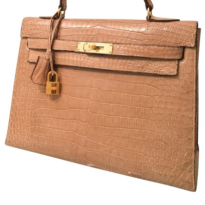 "Hermès ""Kelly Bag 32"" peau de crocodile"