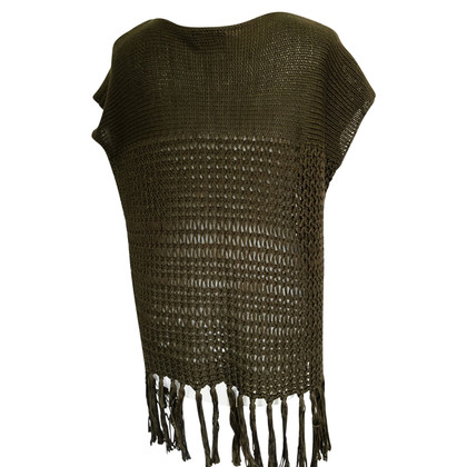 Polo Ralph Lauren Grobstrick vest with fringes
