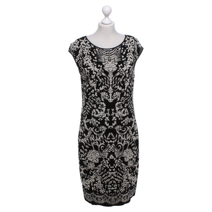 Marc Cain Gebreide jurk zwart / Beige