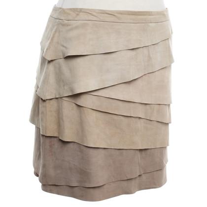 Ralph Lauren Leather skirt in light brown