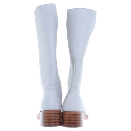 Frye Hohe Stiefel aus Leder Weiß Verkauf Billig Kosten Für Verkauf Billig Verkauf Beliebt Freies Verschiffen Ausgezeichnet Bequem Online 5KDaJuD