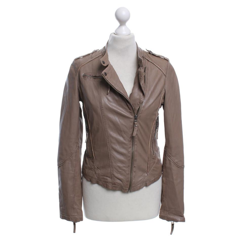 oakwood veste en cuir marron clair acheter oakwood veste. Black Bedroom Furniture Sets. Home Design Ideas