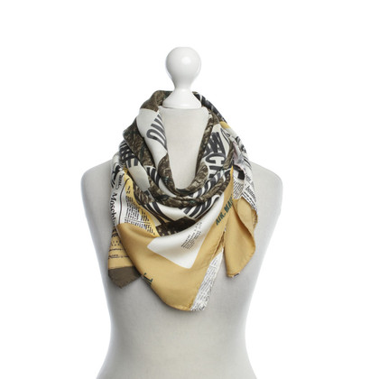 Moschino Silk scarf with logo motif