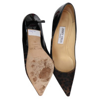 Jimmy Choo pumps with fur / patent leather