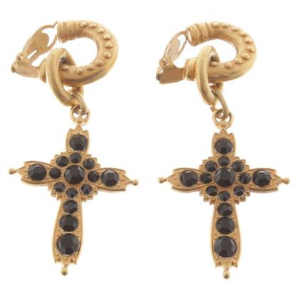 Rena Lange clips oreille avec pendentif croix
