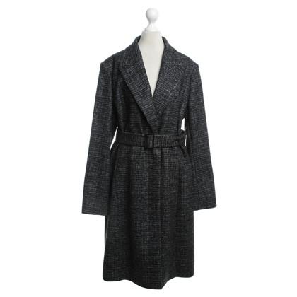 Hugo Boss Cappotto in nero / grigio / azzurro