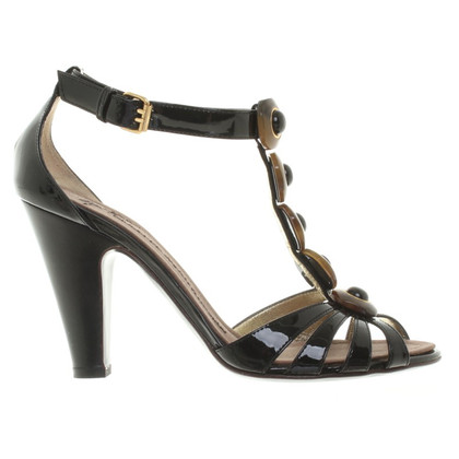 Giuseppe Zanotti Black patent leather sandals