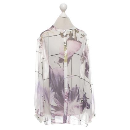 Lala Berlin chemisier en soie avec un motif floral