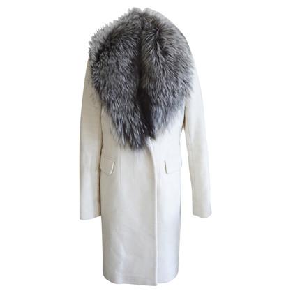 Diane von Furstenberg Coat with fox fur collar