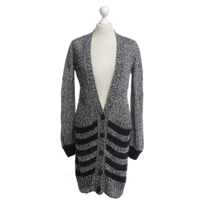 See by Chloé Knitted coat with striped pattern