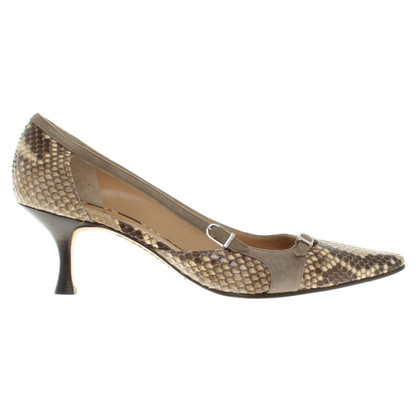 Unützer pumps from snake leather
