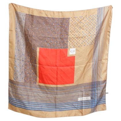 Christian Dior sciarpa di seta con un motivo grafico
