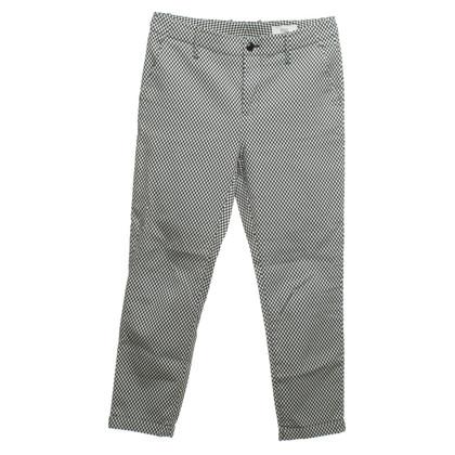 Closed pantaloni tratteggiate in blu scuro / ecru