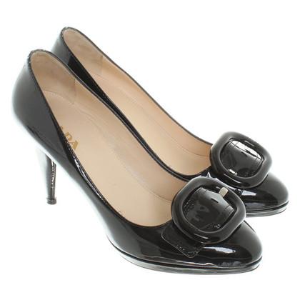 Prada Patent leather pumps with metallic effect