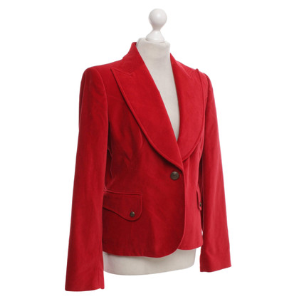 Valentino Velvet blazer in red