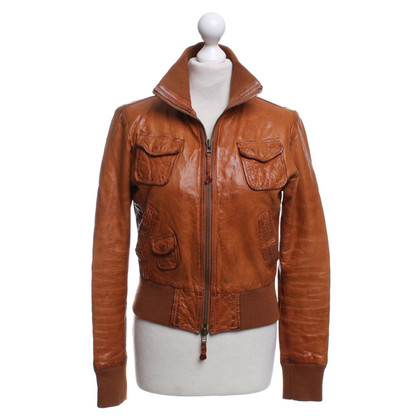 Armani Jeans Leather jacket in used look