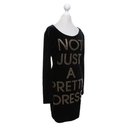 Moschino Cheap and Chic Zwart fluwelen jurk