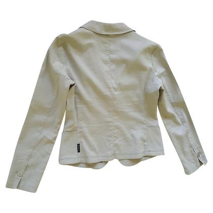 Armani Jeans giacca di lino grigio