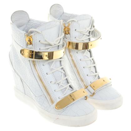 Giuseppe Zanotti Plateau sneakers in white