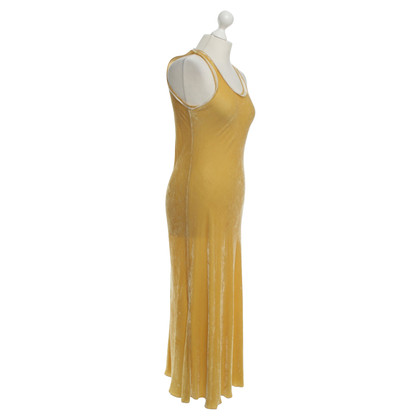 Marithé et Francois Girbaud Velvet dress in mustard yellow